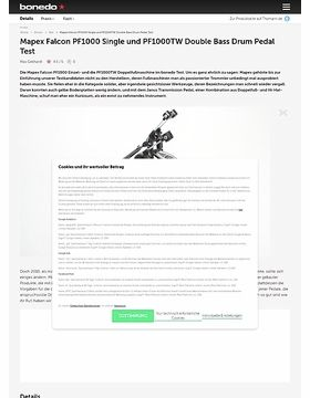 Mapex Falcon PF1000 Single und PF1000TW Double Bass Drum Pedal