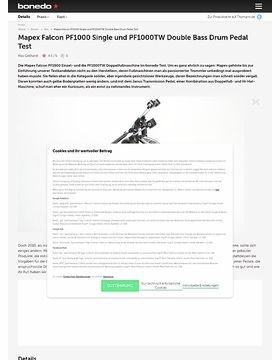 Mapex Falcon PF1000 Single und PF1000TW Double Bass Drum Pedal