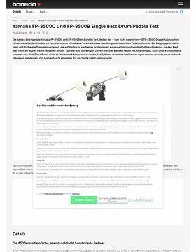 Yamaha FP-8500C und FP-8500B Single Bass Drum Pedale Test