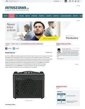 Test: VOX VX II, Gitarrenverstärker
