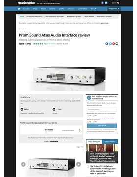 Prism Sound Atlas Audio Interface