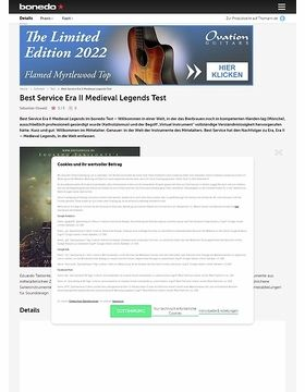 Best Service Era II Medieval Legends