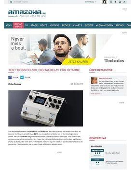 Test: BOSS DD-500, Effektgerät für Gitarre