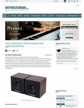 Test: Auratone 5C Super Sound Cube, Nahfeldmonitore