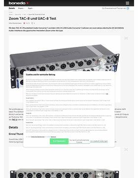 Zoom TAC-8 und UAC-8