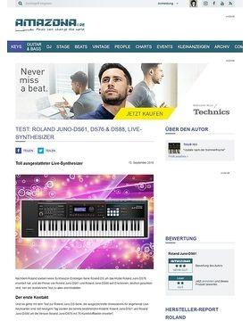 Test: Roland Juno-DS88, 61 Synthesizer Workstation