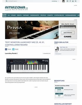 Test: Novation Launchkey MK2 25, 49, 61, Controllerkeyboard