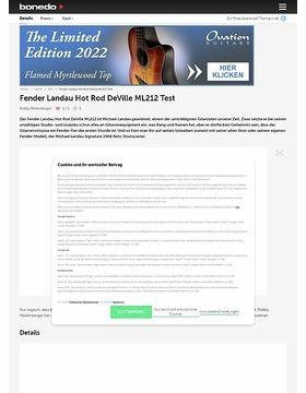 Fender Landau Hot Rod DeVille ML212