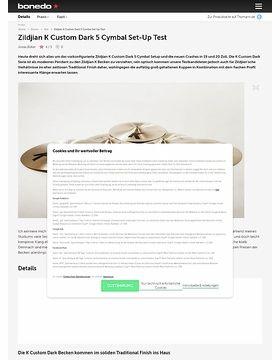 Zildjian K Custom Dark 5 Cymbal Set-Up