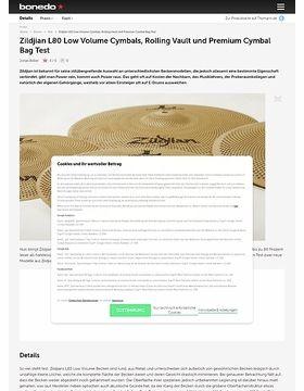 Zildjian L80 Low Volume Cymbals, Rolling Vault und Premium Cymbal Bag