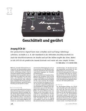 Ampeg SCR-DI, Bass-DI & -Preamp