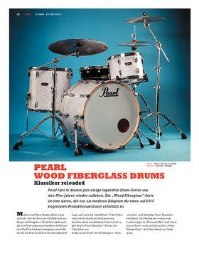 Pearl Wood Fiberglass Drums
