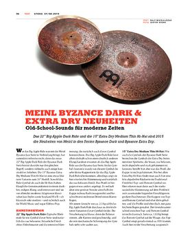 Meinl Byzance Dark & Extra Dry Neuheiten