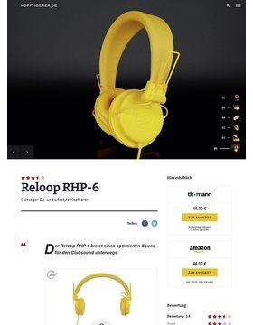 Reloop RHP-6 Series Yellow