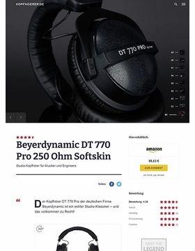Beyerdynamic DT-770 Pro  250 Ohm Softskin