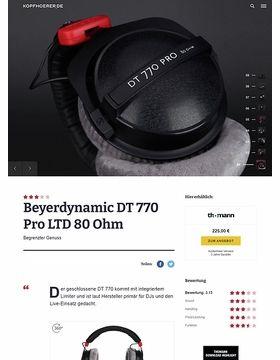 Beyerdynamic DT-770 Pro LTD/80