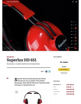Superlux HD-651 Red