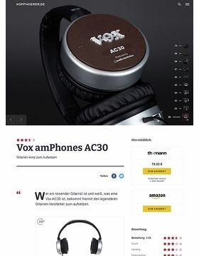 Vox amPhones AC 30