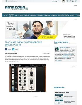 Test: Slate Digital Custom Series EQ Bundle, Plug-in