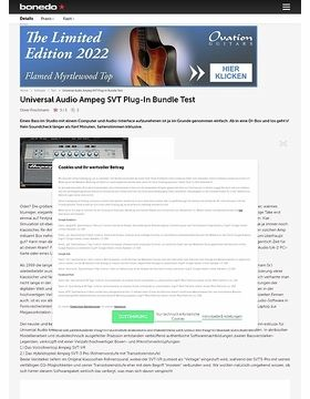 Universal Audio Ampeg SVT Plug-In Bundle