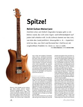 Relish Guitars Walnut Jane