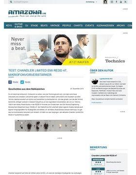 Test: Chandler Limited EMI REDD 47, Mikrofonvorverstärker