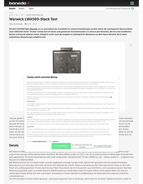 Warwick LWA500 Stack