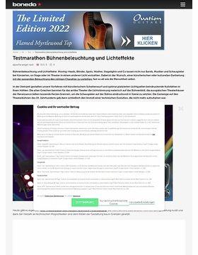 Testmarathon Bühnenbeleuchtung und Lichteffekte