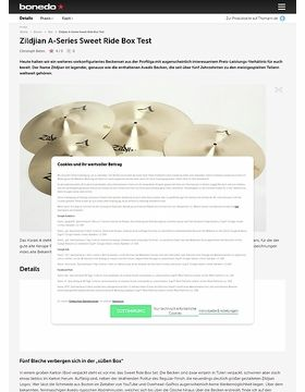 Zildjian A-Series Sweet Ride Box