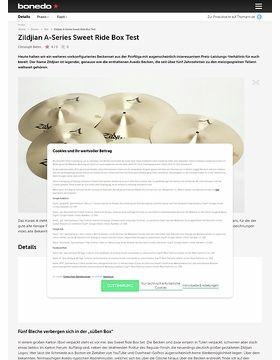 Zildjian A-Series Sweet Ride Box