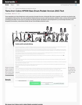 Tama Iron Cobra HP900 Bass Drum Pedale Version 2015