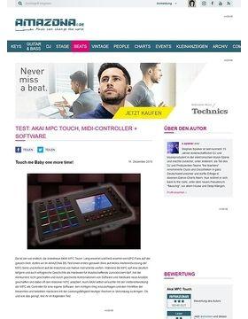 Test: Akai MPC Touch, MIDI-Controller + Software