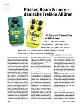 TC Electronic Viscous Vibe & Helix Phaser