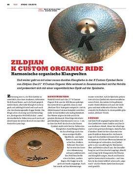 Zildjian K Custom Organic Ride