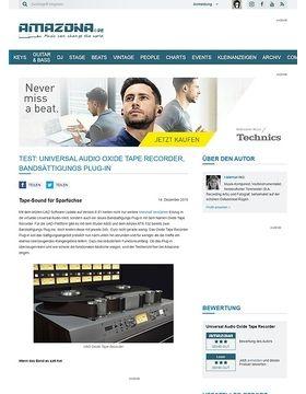 Test: Universal Audio Oxide Tape Recorder, Bandsättigungs Plug-in