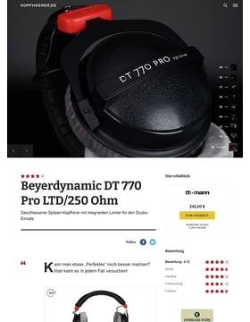Beyerdynamic DT-770 Pro LTD/250