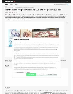 Toontrack The Progressive Foundry SDX und Progressive EZX
