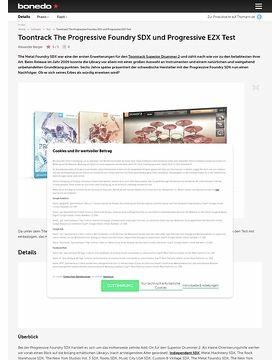 Toontrack The Progressive Foundry SDX und Progressive EZX
