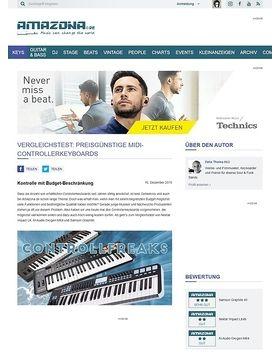 Vergleichstest: Günstige Controllerkeyboards Nektar Impact LX, M-Audio Oxygen MK4, Samson Graphite, USB/MIDI-Controllerkeyboards