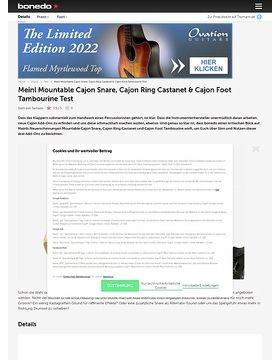 Meinl Mountable Cajon Snare, Cajon Ring Castanet & Cajon Foot Tambourine