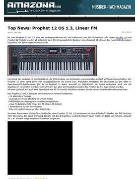 Top News: Prophet 12 OS 1.3, Linear FM