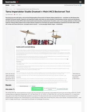 Tama Imperialstar Studio Drumset + Meinl MCS Beckenset