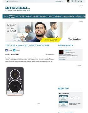Test: EVE Audio SC203, Desktop Monitore
