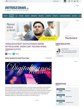 Vergleichstest: Digitalpianos obere Mittelklasse, Kawai CA67, Roland HP605, Yamaha CLP-575