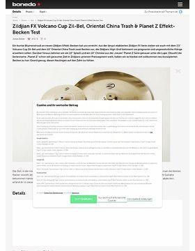 Zildjian FX Volcano Cup Zil-Bel, Oriental China Trash & Planet Z Effekt-Becken