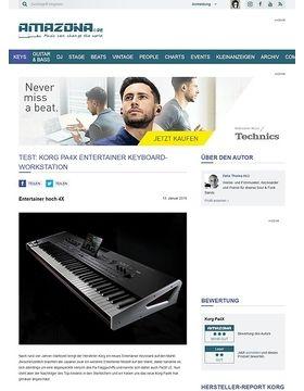 Test: Korg Pa4X, Entertainer Keyboard