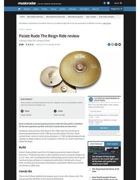 Paiste Rude The Reign Ride