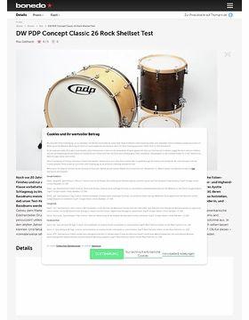 DW PDP Concept Classic 26 Rock Shellset