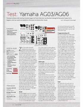 Yamaha ag06 musikhaus thomann for Yamaha thr5a v2