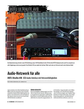MOTU Ultralite AVB - USB-Audio-Interface mit Netzwerkfähigkeiten